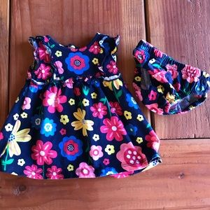 Carter's baby girl dress w/ diaper cover
